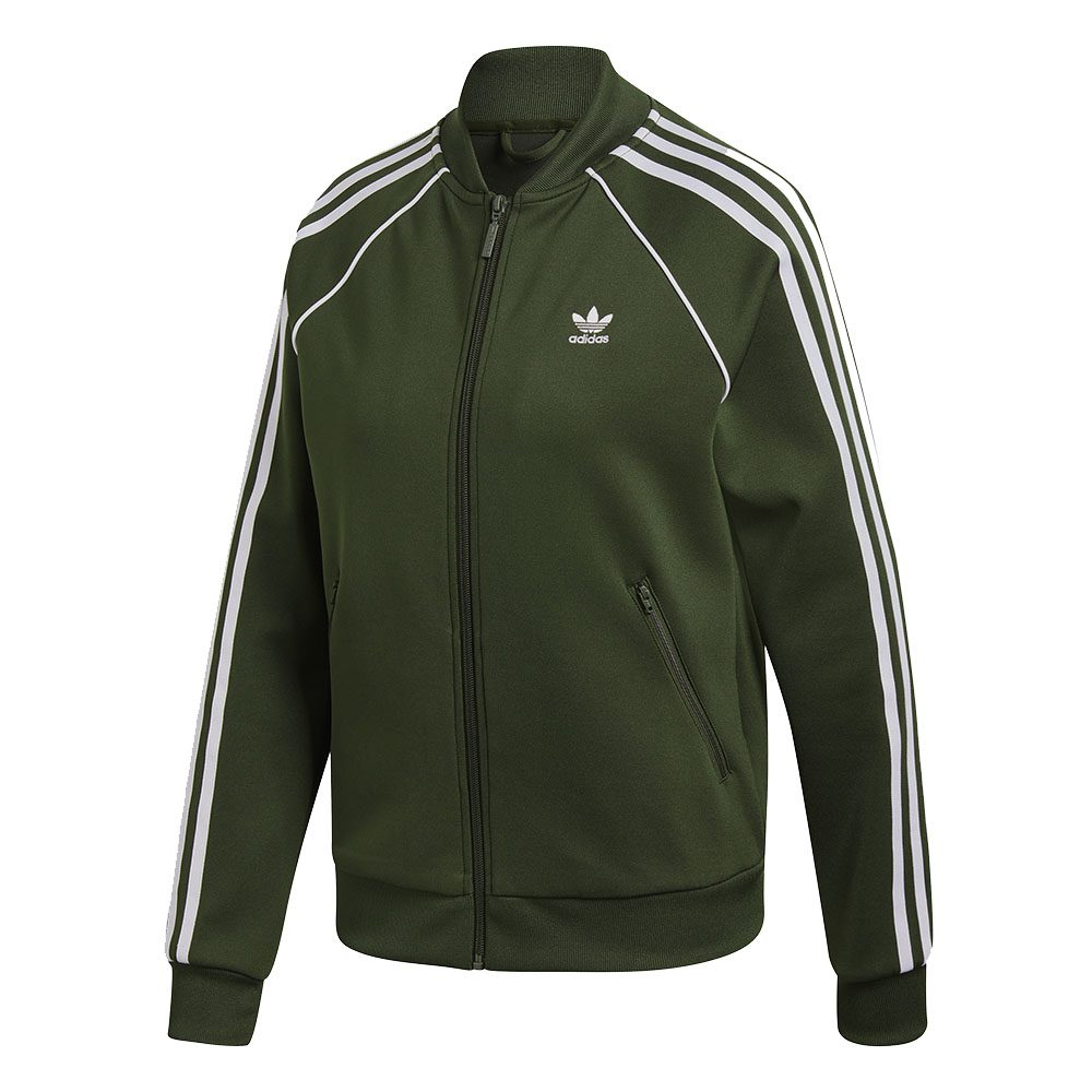 desmayarse rehén miel  Adidas Originals Women's SST Track Top Jacket Night Cargo Green DH3166 -  WOOKI.COM