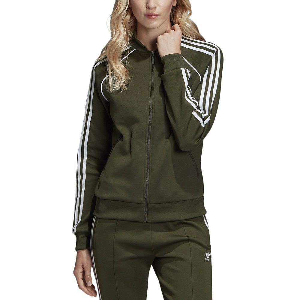 colchón Custodio mero  Adidas Originals Women's SST Track Top Jacket Night Cargo Green DH3166 NEW  | eBay