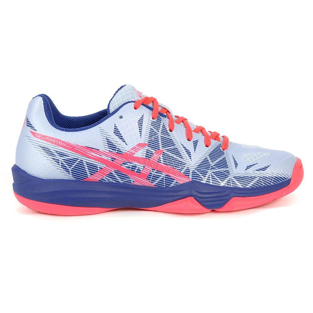 ASICS Women's Gel-Fastball 3 Soft Sky/Diva Pink Handball Shoes ...