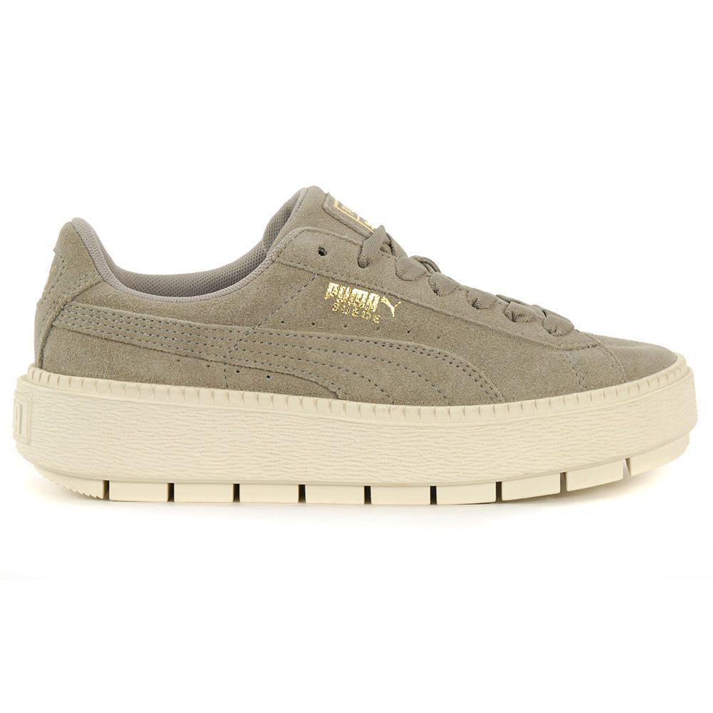 Details about PUMA Women's Suede Platform Trace Rock Ridge/Marshmallow  Shoes 36583006 NEW!