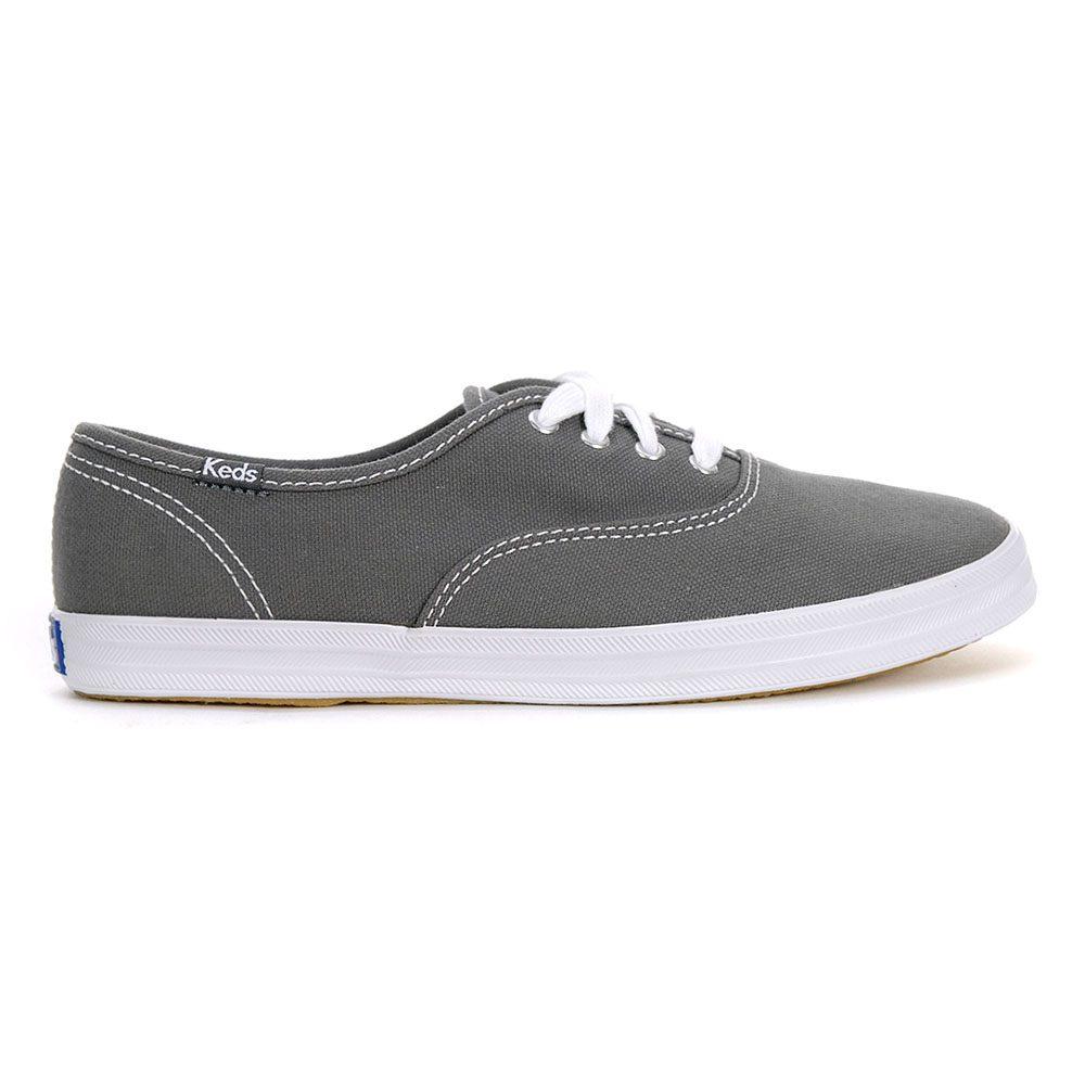Keds Women's Champion Grey Canvas Shoes