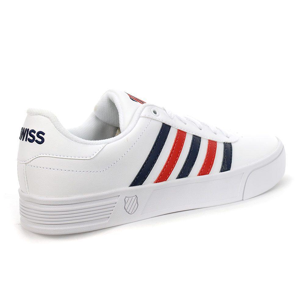 K-Swiss Men's Court Lite Stripes White