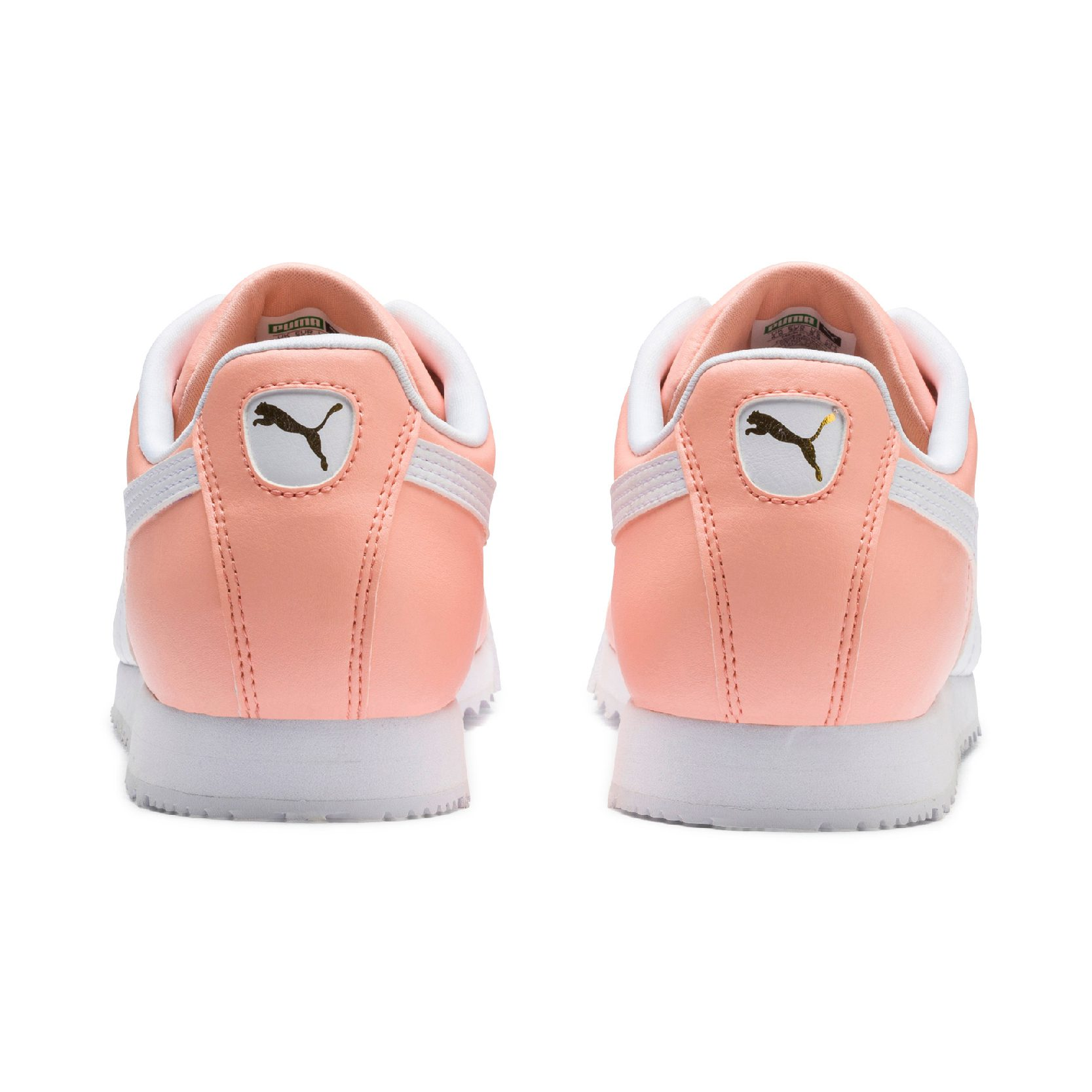 Puma Men S Roma Basic Peach Bud Puma White Sneakers