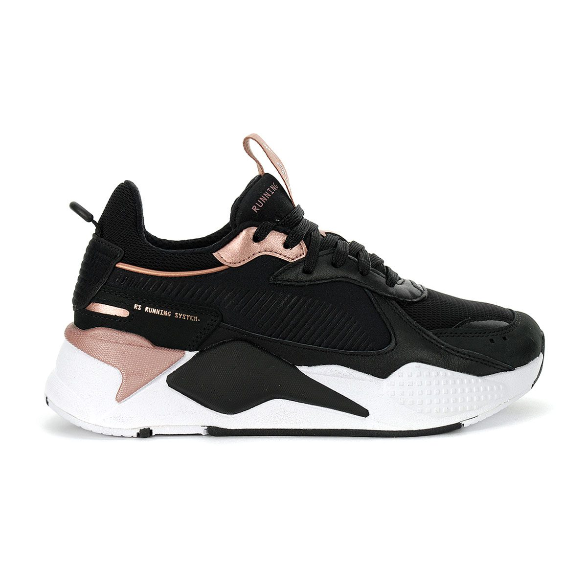 Details about Puma Women's RS-X Trophy Puma Black/Rose Gold Sneakers  37075204 NEW