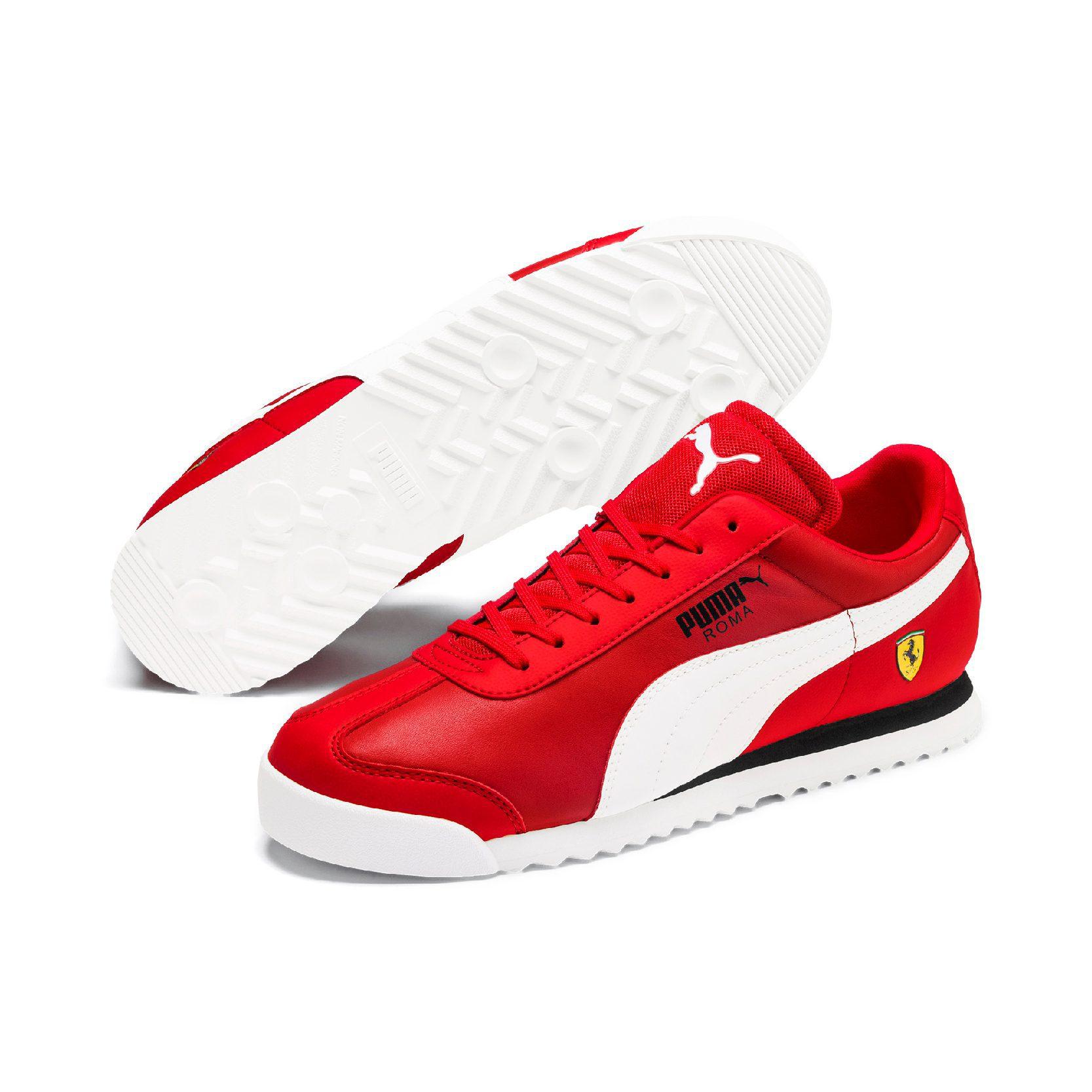 Puma Men's Scuderia Ferrari Roma Rosso Corsa/White/Black Sneakers 30608312 - WOOKI.COM