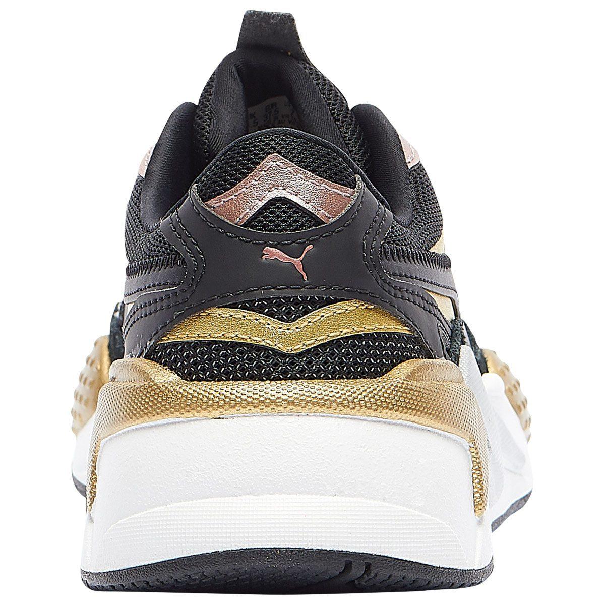 Puma Women S Rs X3 Metallic Puma Black Puma Silver Rose Gold Sneakers 37432901 Wooki Com