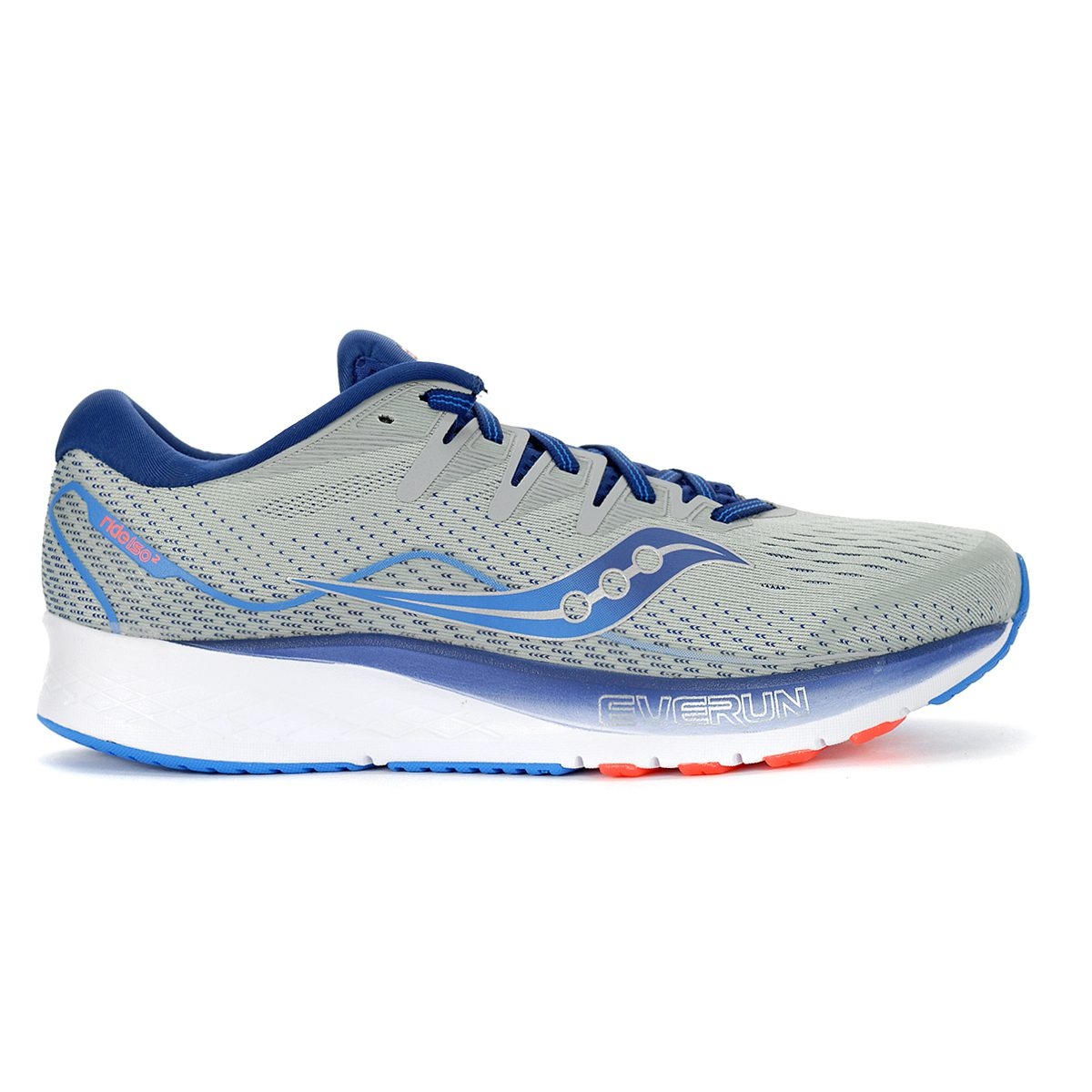S20514-1 Saucony Ride ISO 2 Men/'s Running Shoe US 15 Grey//Blue