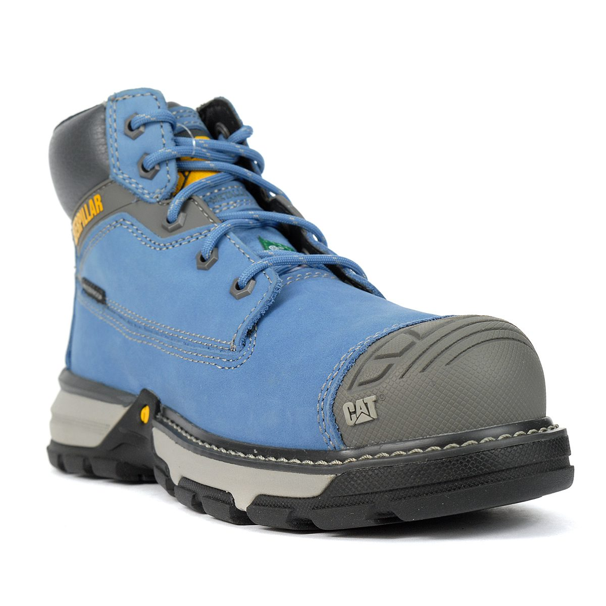 Caterpillar womens Work Fire and Safety Boot 6.5 US Blue Heaven